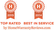 Best in Service Award by HomeWarrantyReviews.com
