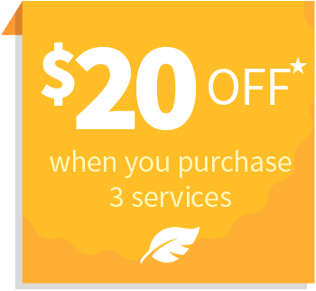 $20 off when you purchase 3 services