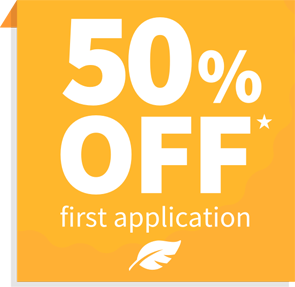 50% off first application