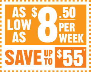 As Low As $8.50/week | Save up to $55